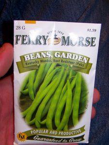 Zöldségmag ültetésre szánva